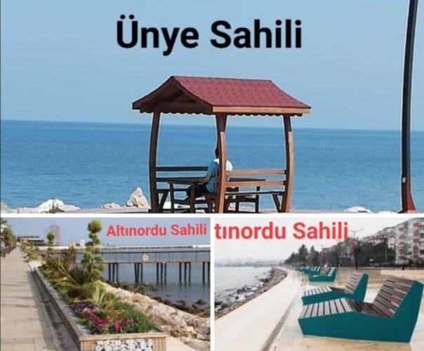 Büyükşehir Belediyesi'nin Ünye'de sahile koyduğu oturma gruplarına ÜNTİD Başkanı Adnan Sobi tepkili