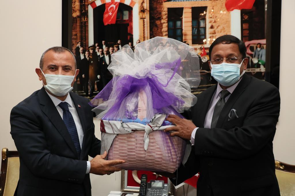Hindistan'ın Ankara Büyükelçisinden, Vali Sonel'e Ziyaret